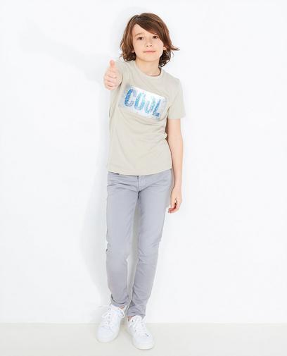 Beige swipe T-shirt